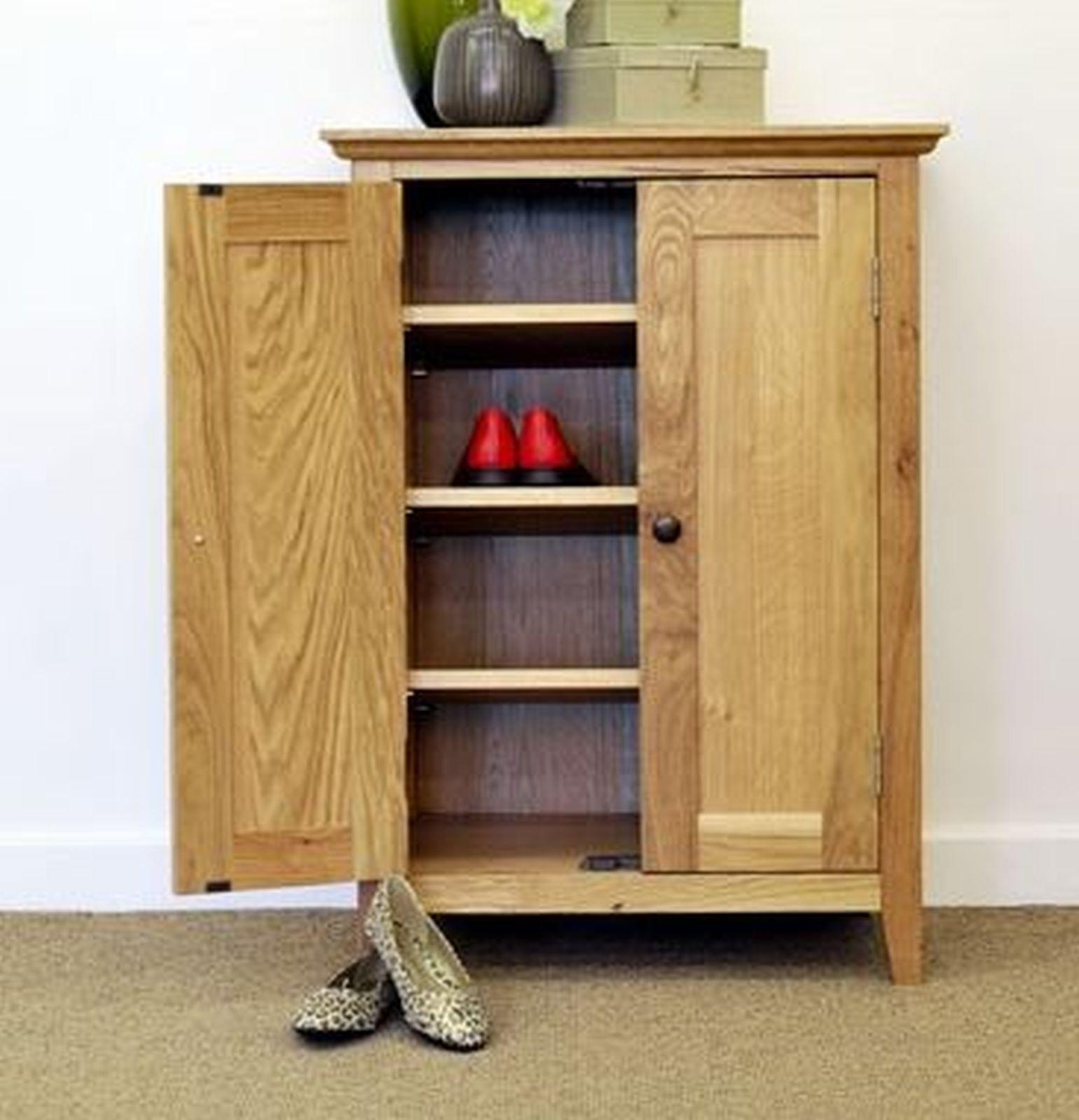 Wood Shoe Cabinet