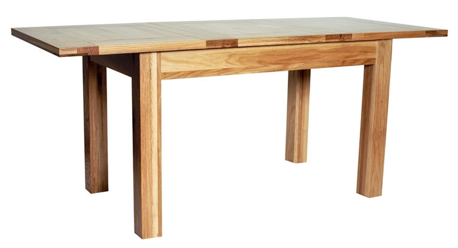 Colorado solid oak furniture extending dining table ebay for Solid oak dining table