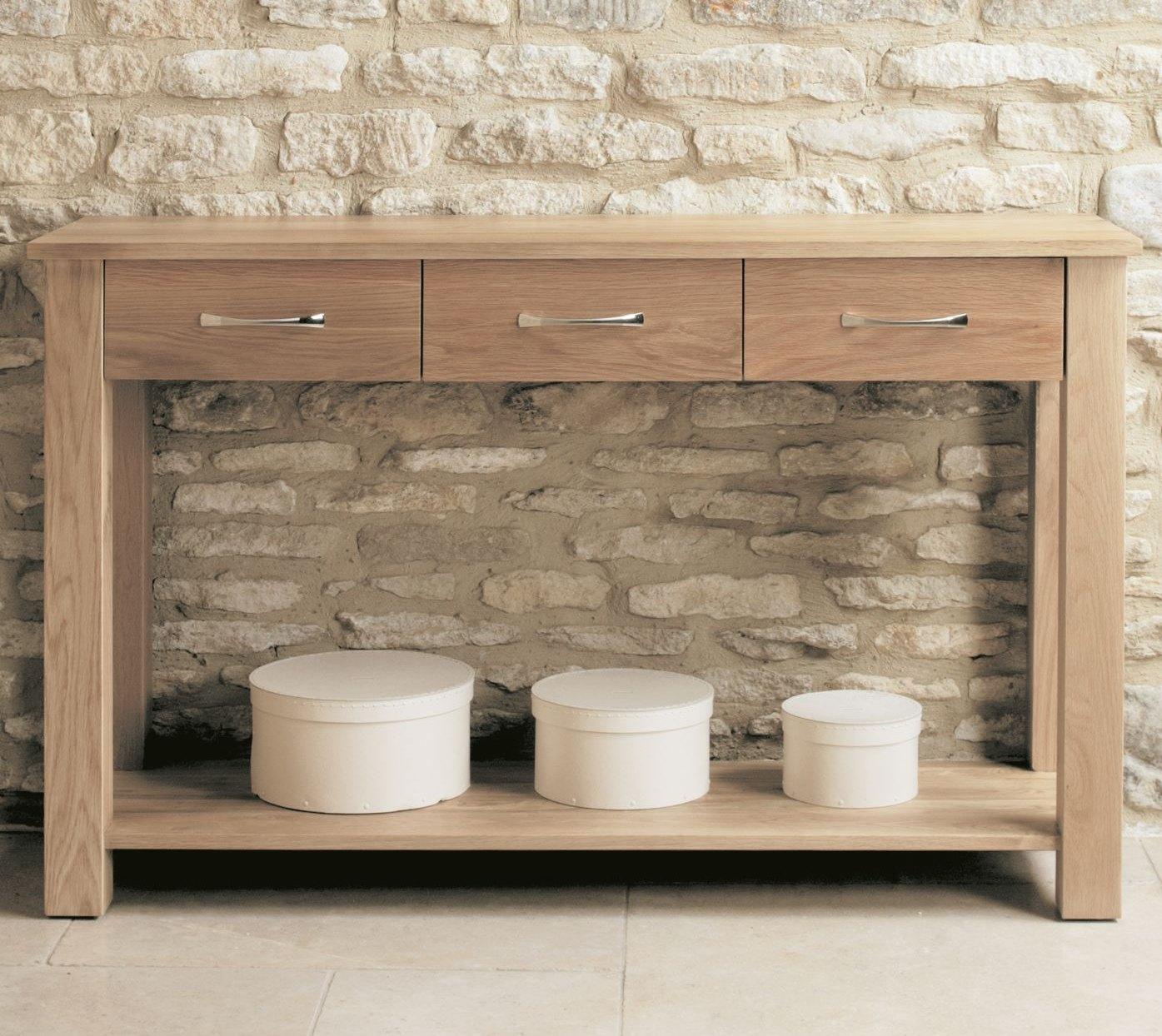 Mobel solid oak living room hallway furniture console - Furnitive mobel ...