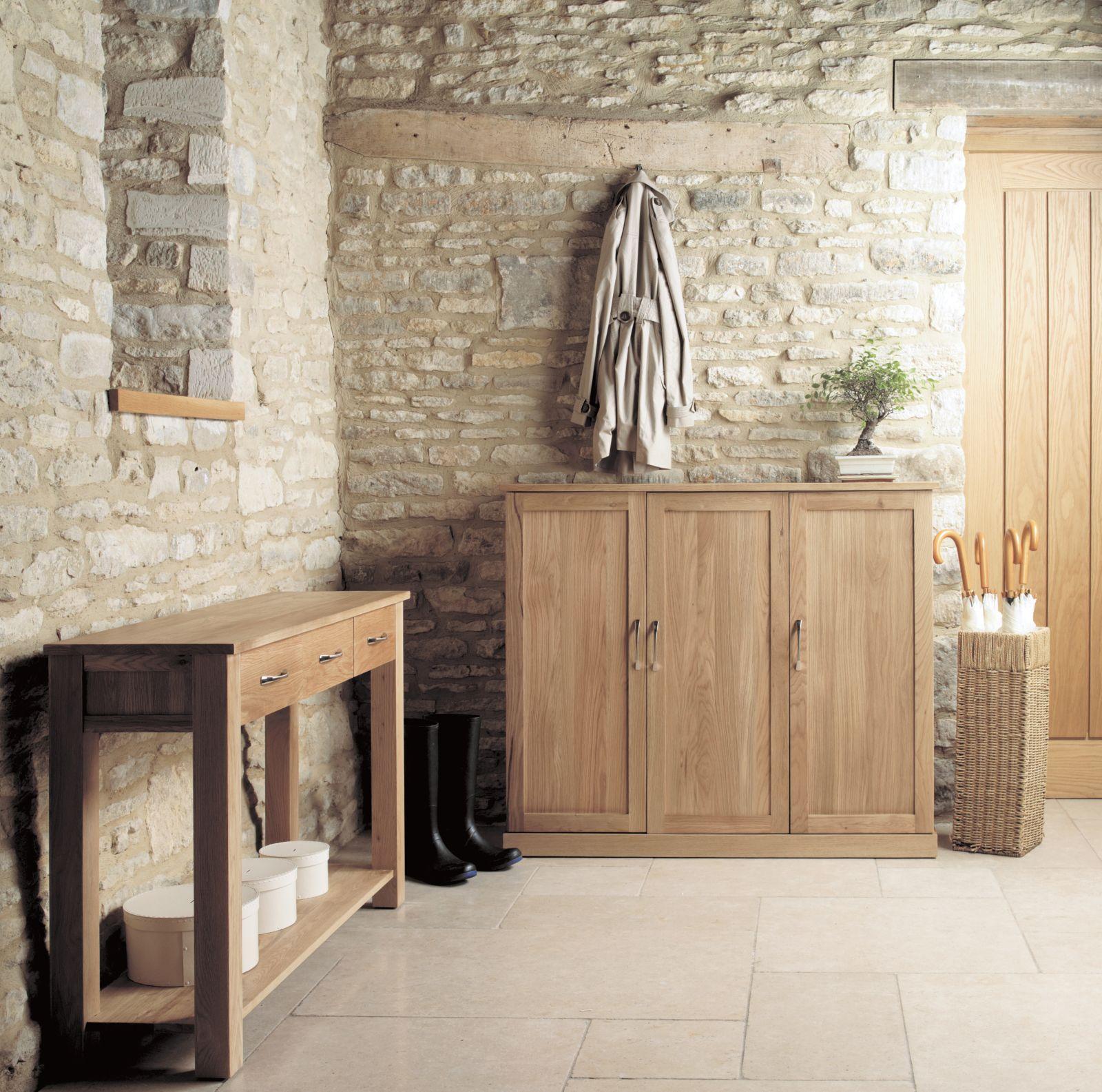 Mobel Solid Modern Oak Hallway Furniture Extra Large Shoe