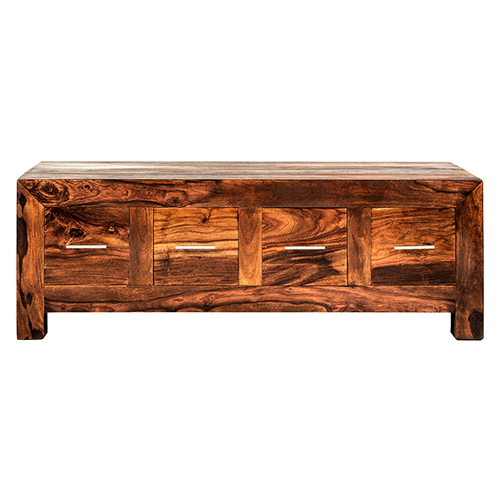 Taj Solid Sheesham Furniture Storage Coffee Table With Drawers