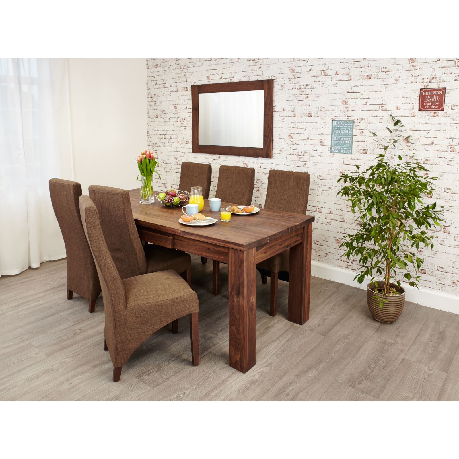 Linea solid walnut furniture large dining room extending for Large dining room pictures