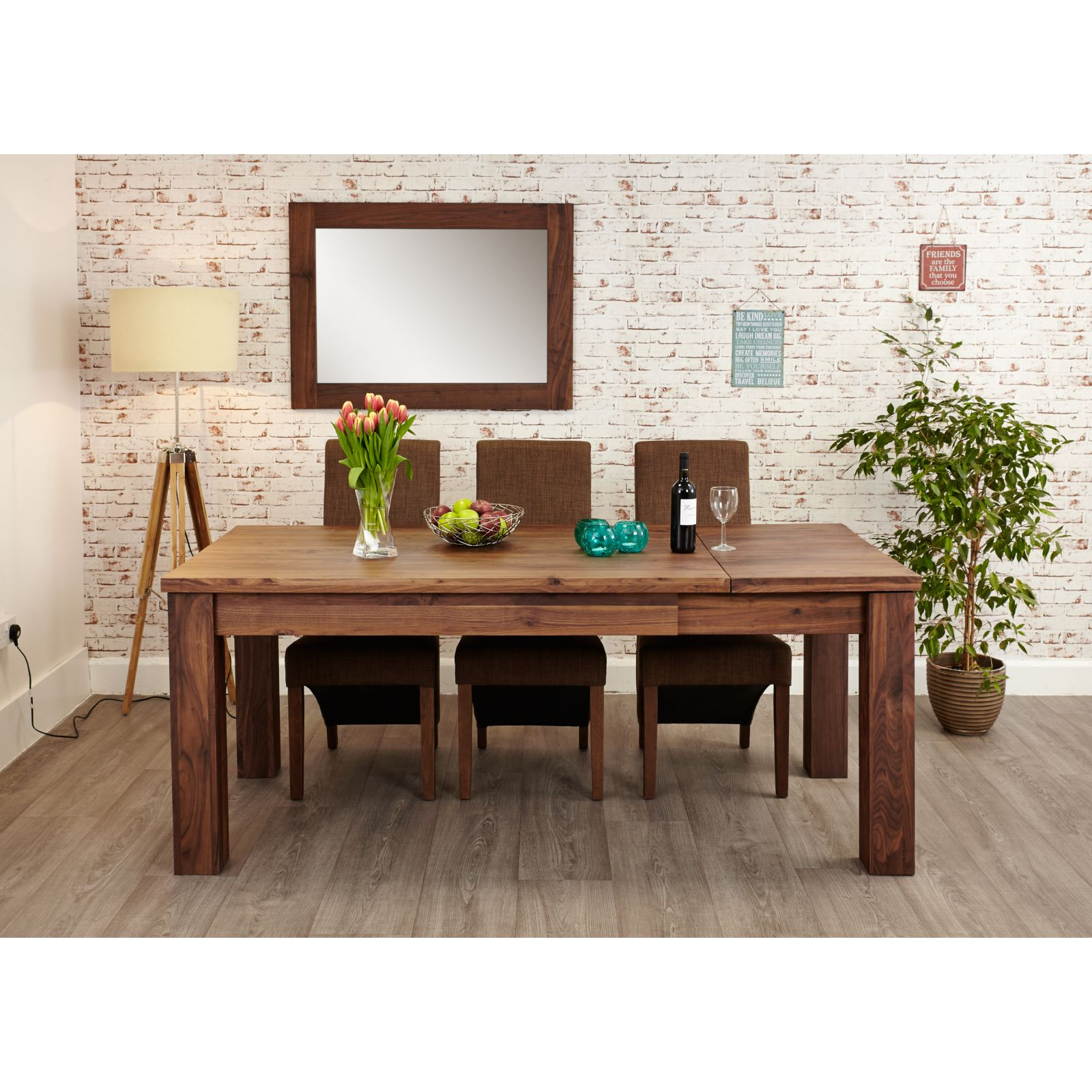 Linea Solid Walnut Furniture Large Dining Room Extending