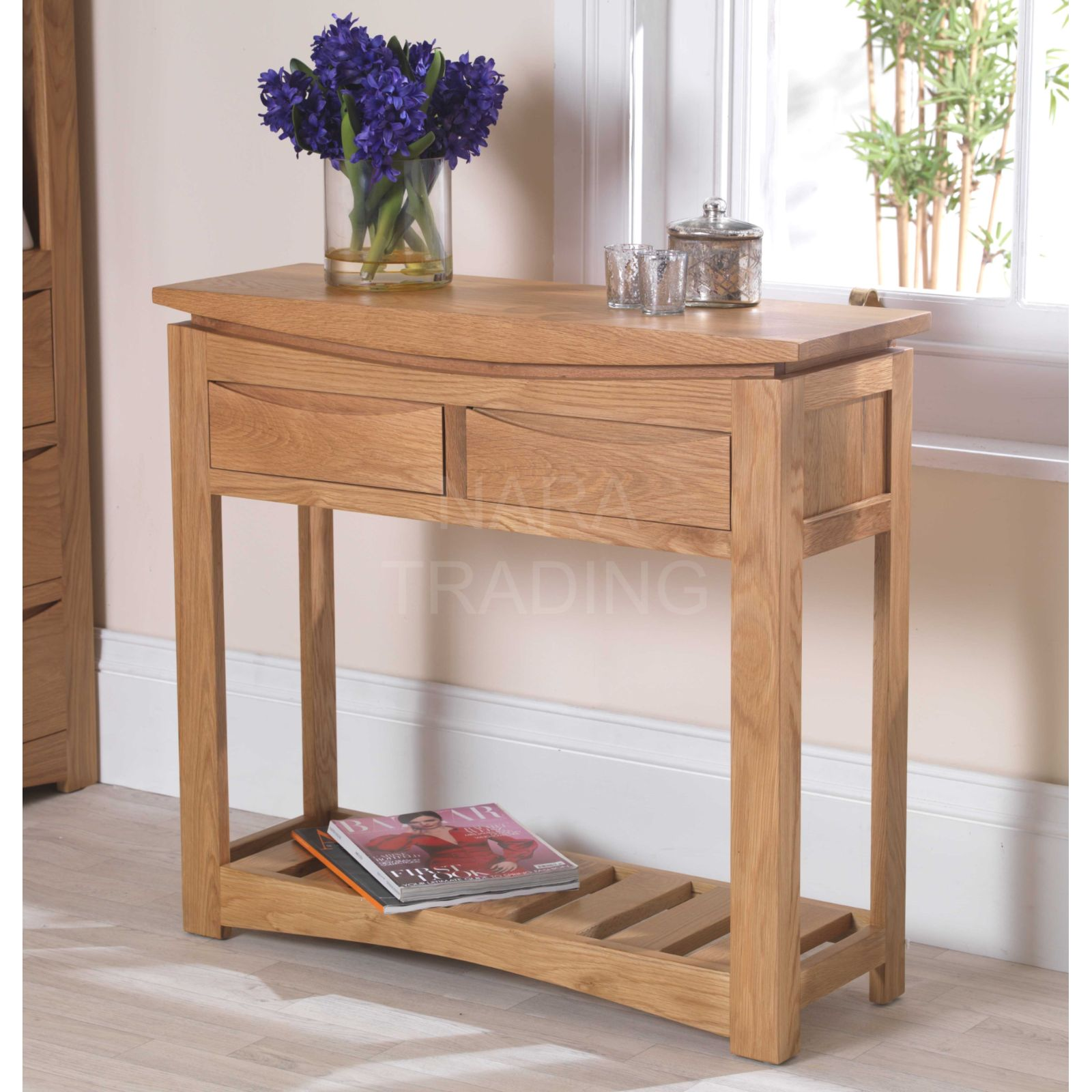 Foyer Table Uk : Crescent solid oak hallway furniture console hall table