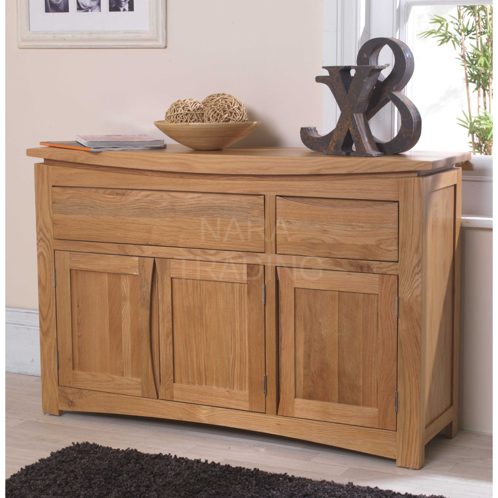 Solid Oak Dining Room Furniture ~ Crescent solid oak dining room furniture three door two