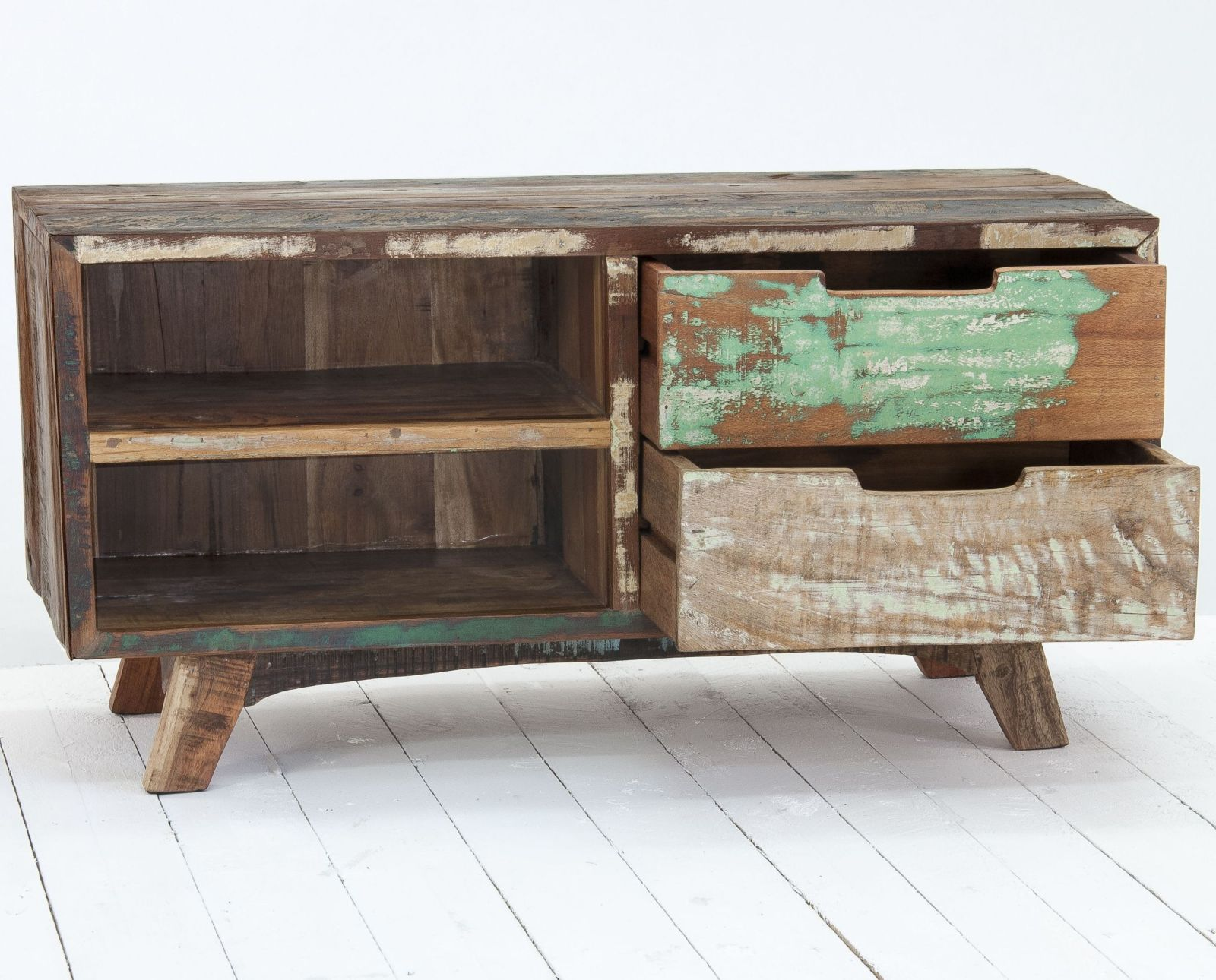 Driftwood Reclaimed Wood Living Room Furniture Television Cabinet Stand Unit Ebay