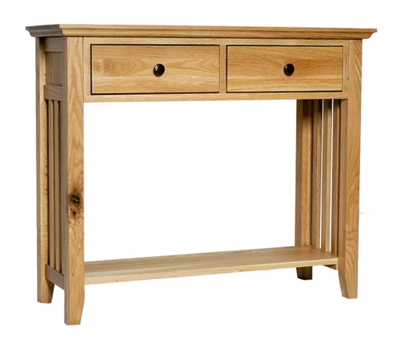 Belfry solid oak furniture hallway console hall table with for Solid oak furniture