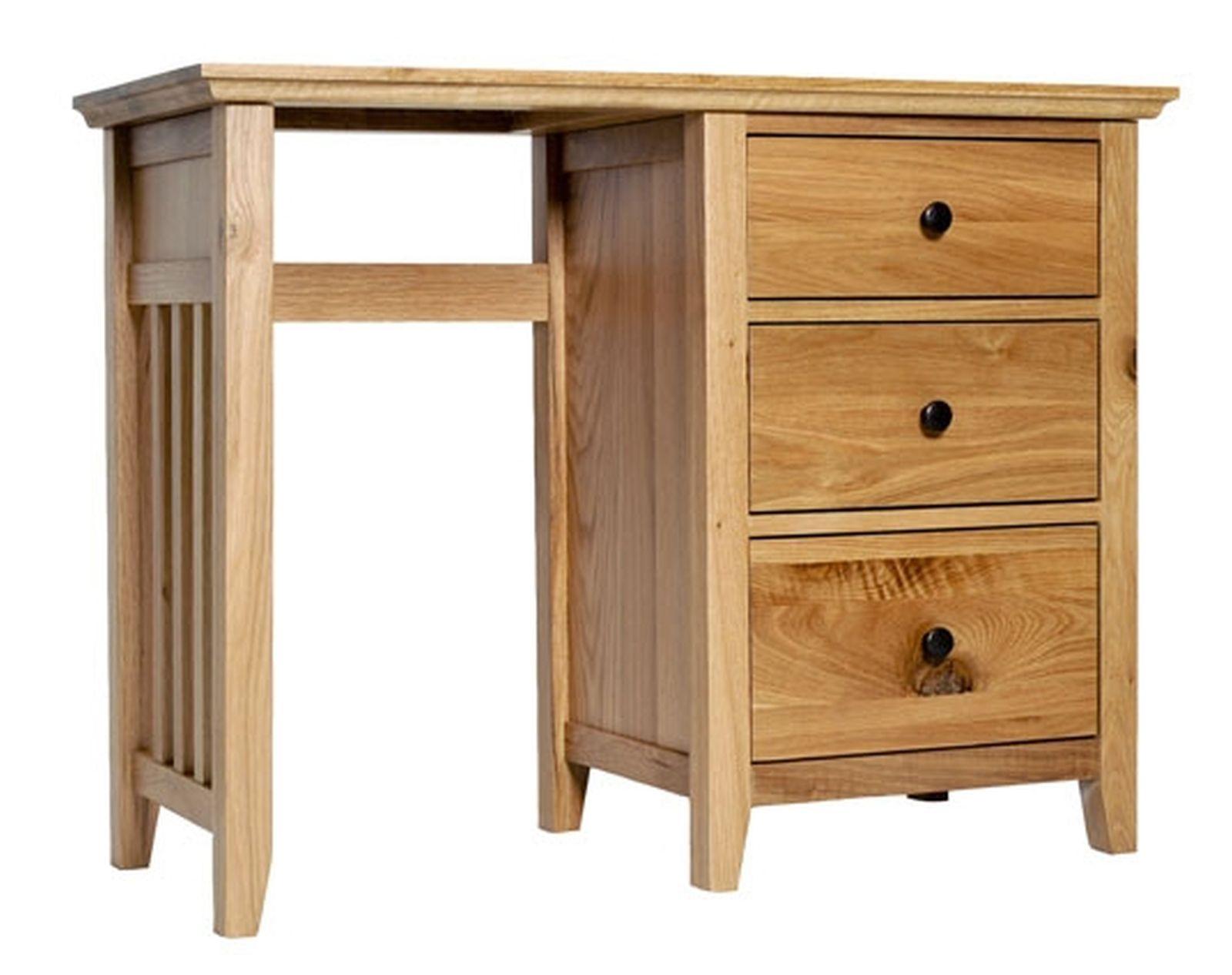 Allerton solid oak bedroom furniture small dressing table for Small dressing table