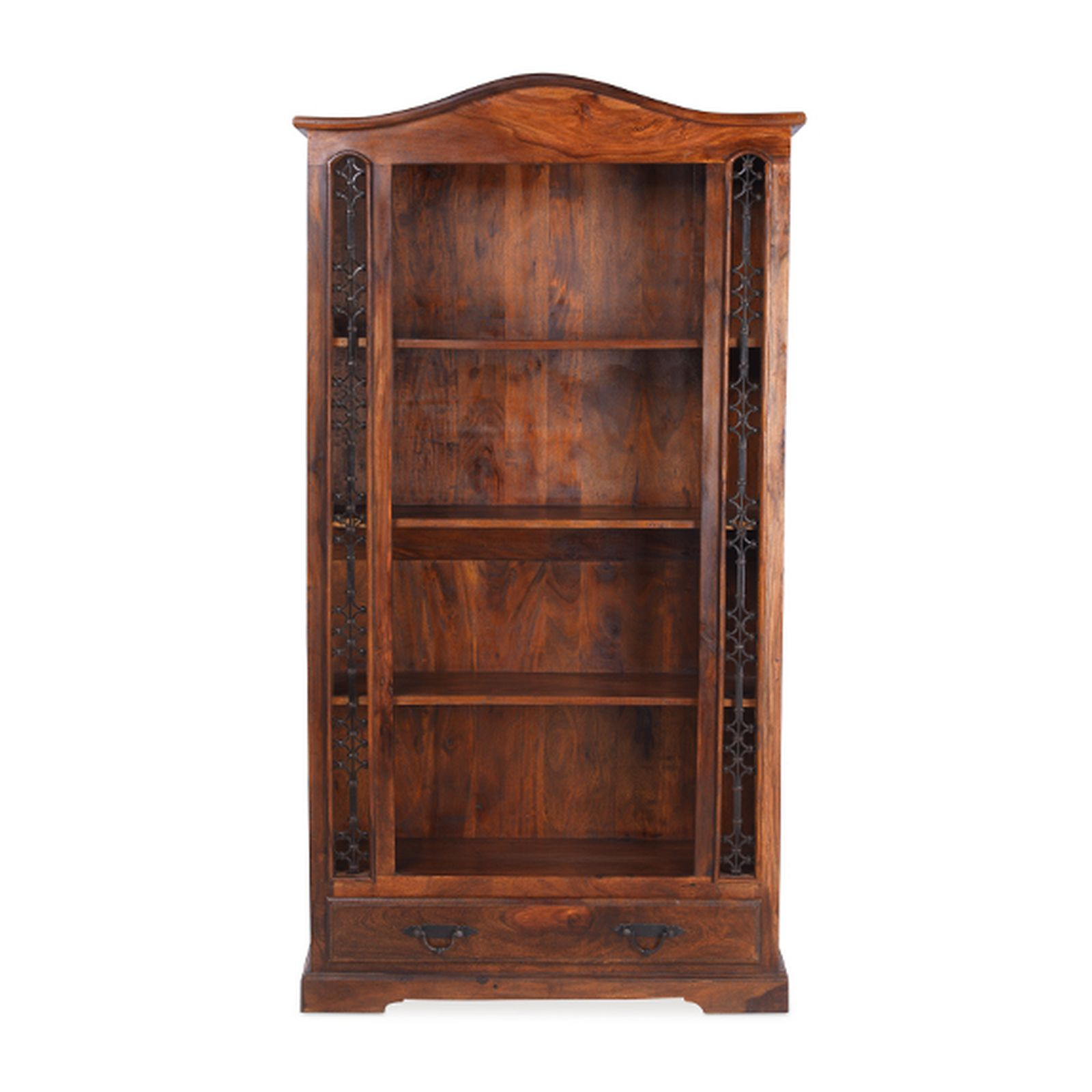 Nepal solid sheesham indian furniture large bookcase with for Furniture in hindi