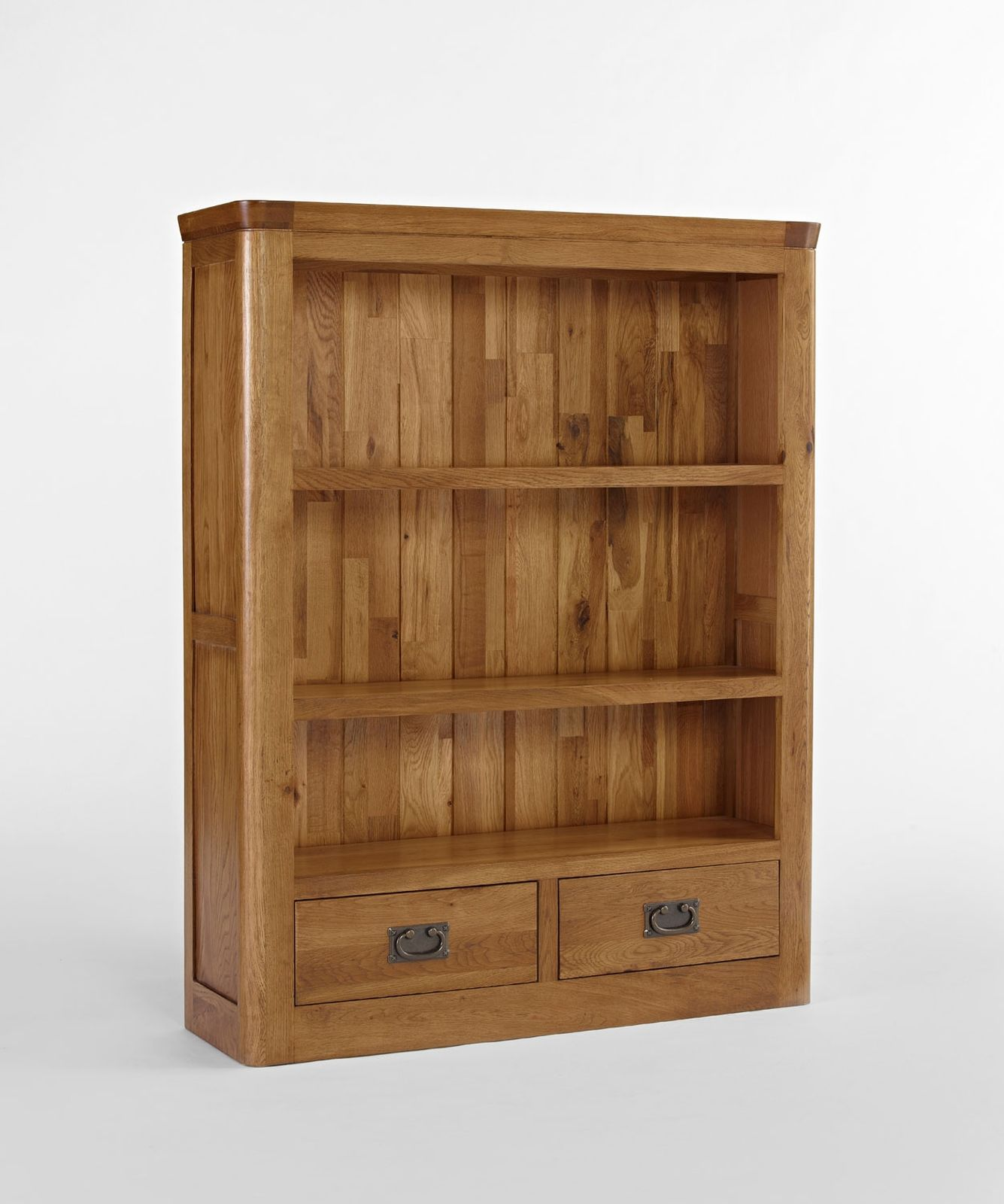 Dalmore solid oak bedroom furniture small bookcase with for Bedroom bookshelves