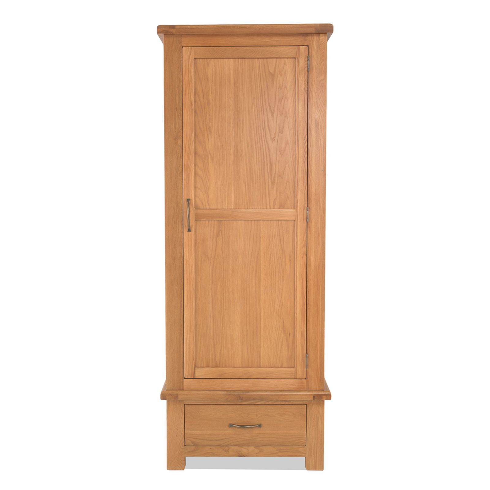 Galway solid oak bedroom furniture single wardrobe with for Solid oak furniture