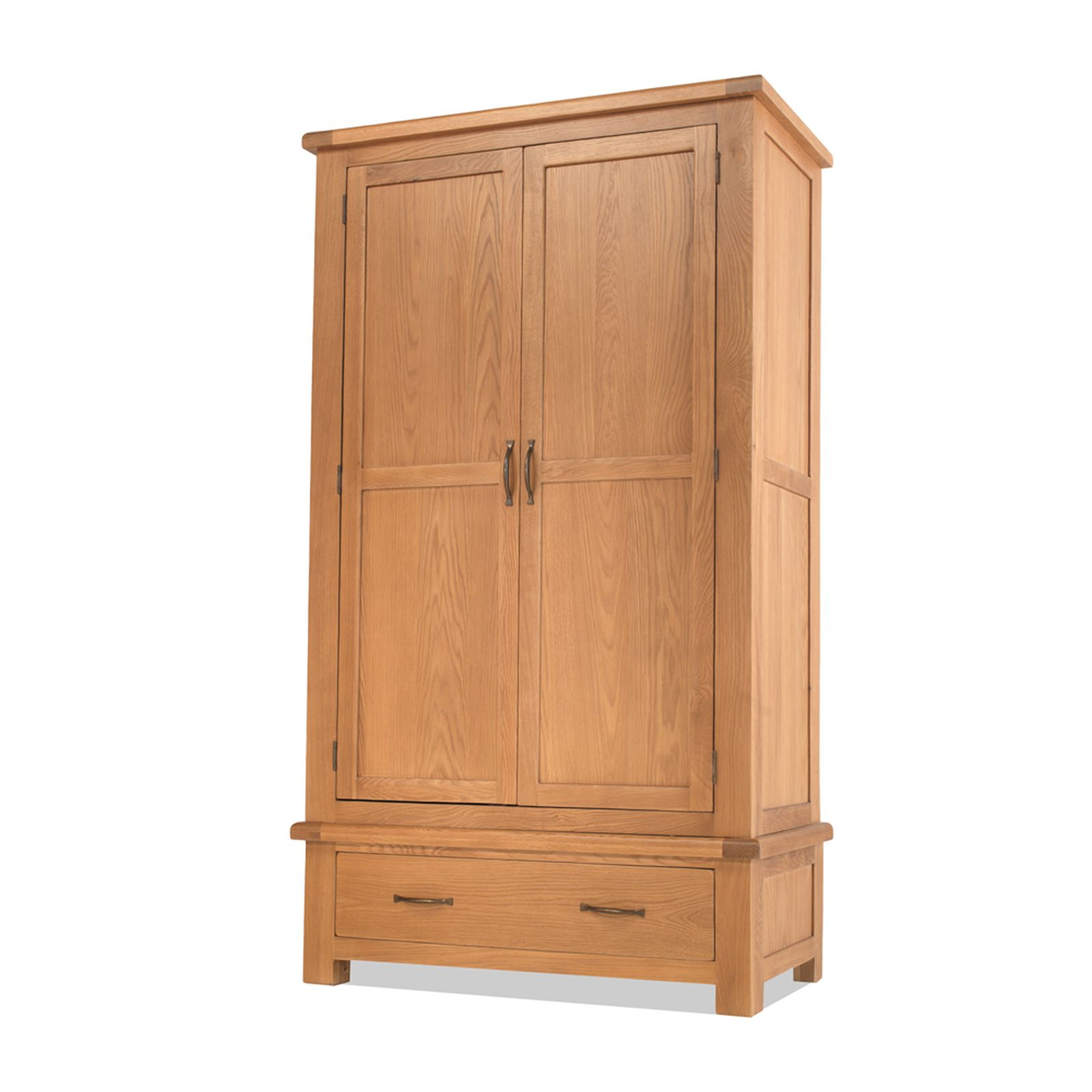 Galway solid oak bedroom furniture double wardrobe with for Oak bedroom furniture