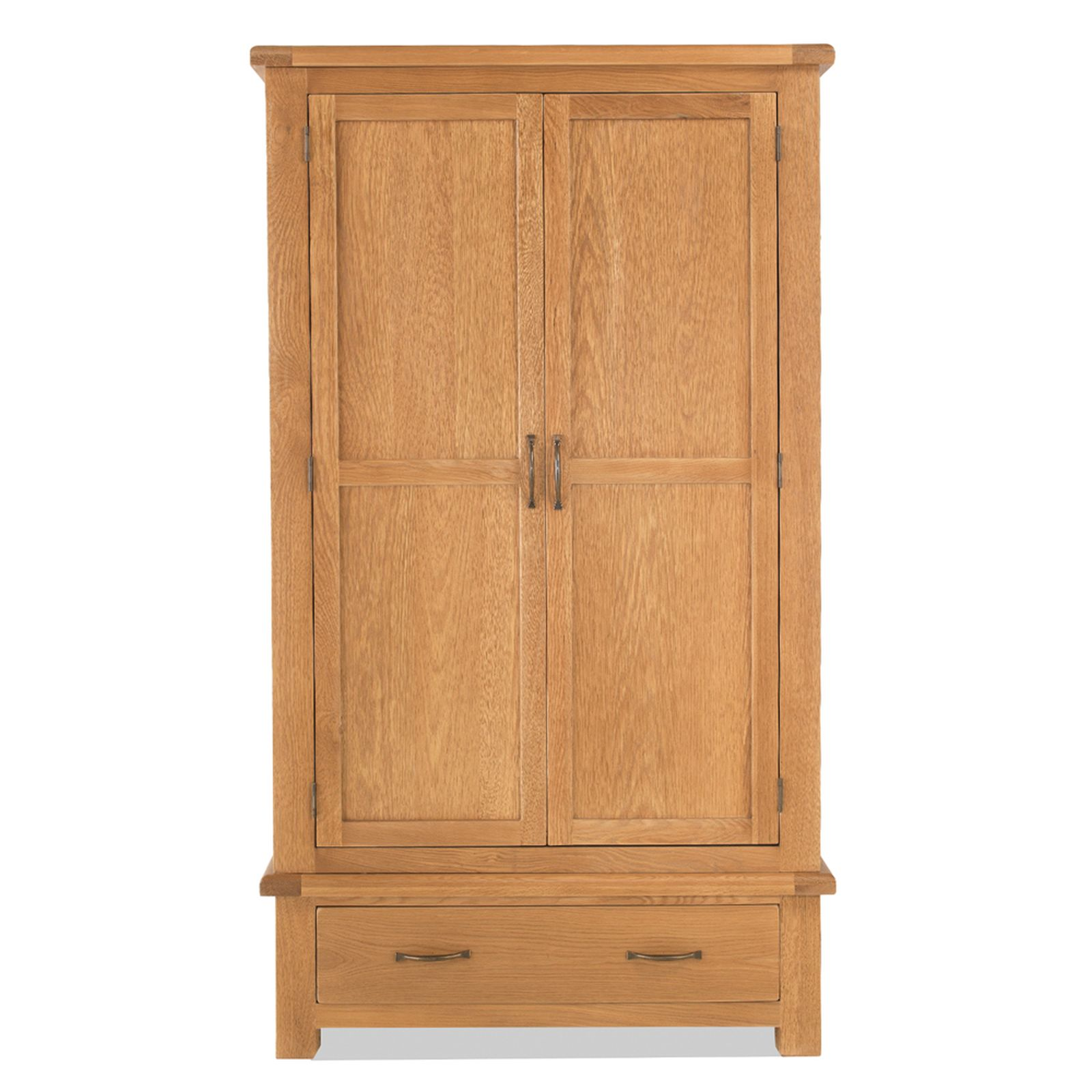 galway solid oak bedroom furniture double wardrobe with