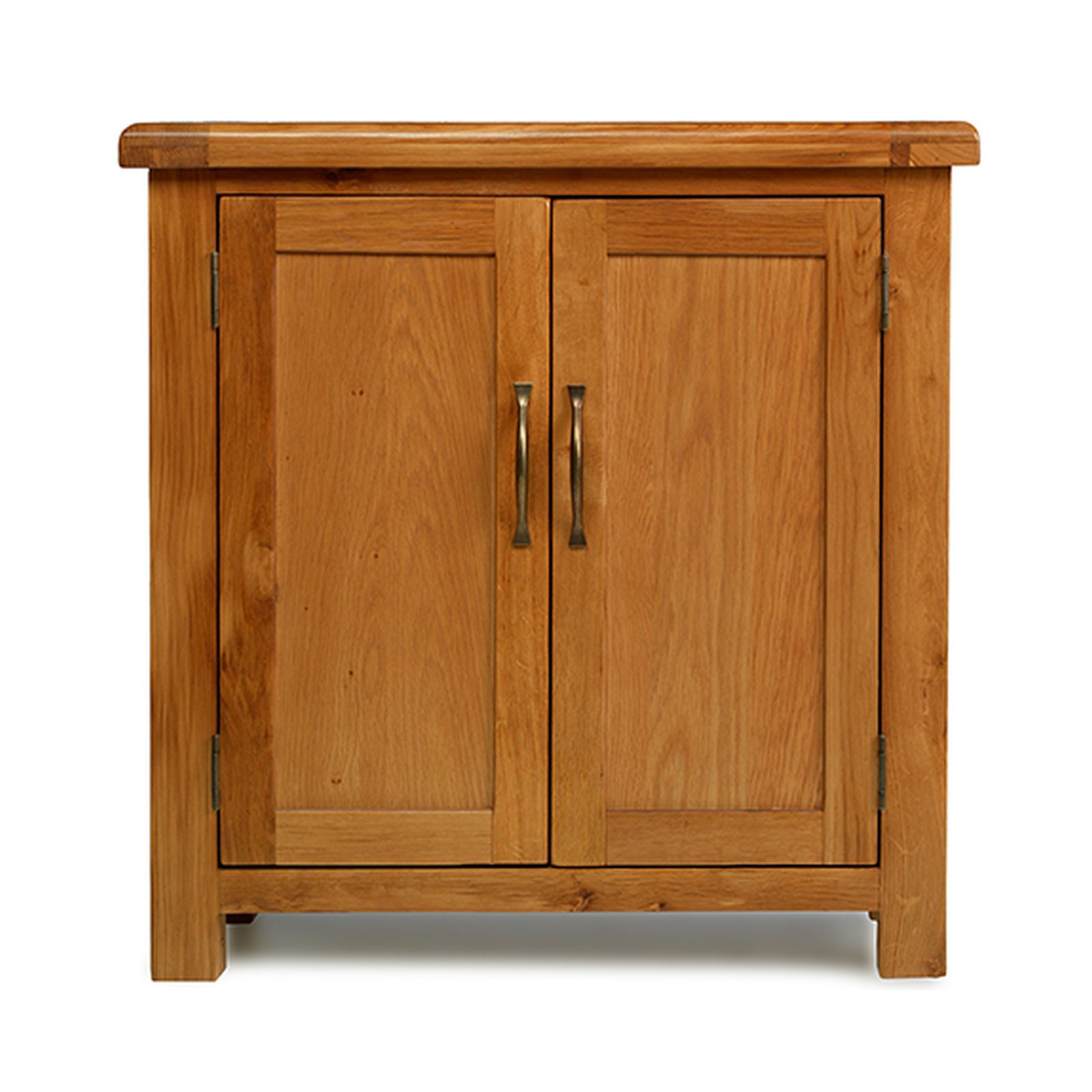 Rushden solid oak furniture small petite cabinet storage for Cupboard cabinet