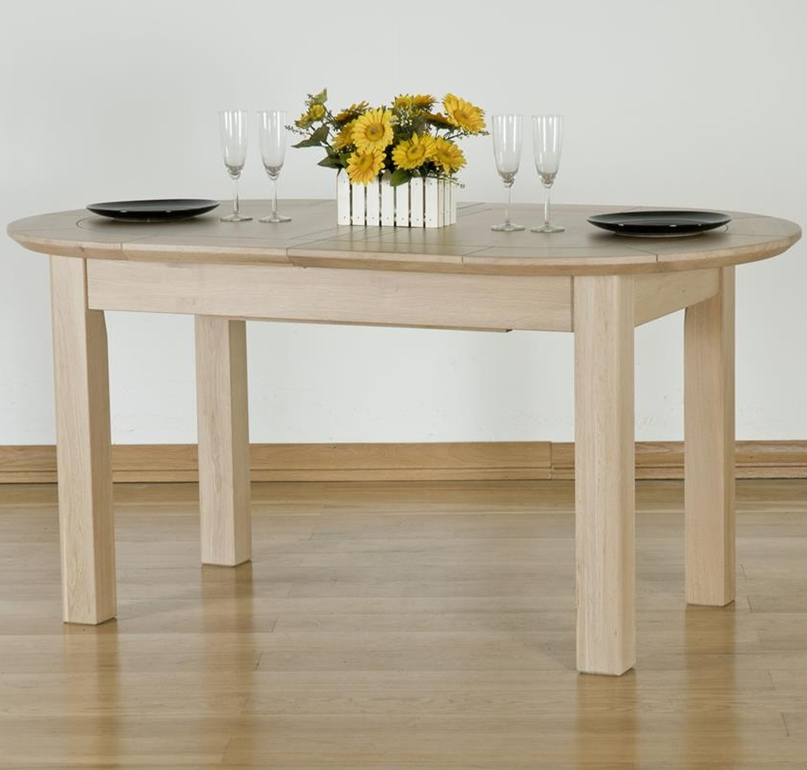 Solid Oak Dining Room Furniture ~ Kingswood solid oak dining room furniture large extending